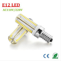 appliance bulb - Led Light Bulbs LED Corn Light E12 Dimmable LED Light Dimmable Bulb Appliance Silicone Crystal Lead Lights Bulb Warm White K AC110V V