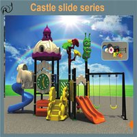 playground equipment - Castle playground new design cheap outdoor plastic playground equipment offered by factory for kid