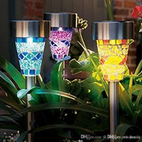 Wholesale Fashion New Solar Mosaic Garden Light LED Lamp Stainless Steel Spot Light Outdoor Lawn Landscape Lighting