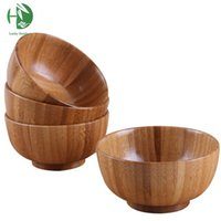 Wholesale plus size wooden bowls lancheira container for food rice bowl baby children s tableware fruteira para cozinha ramen