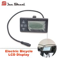 bicycle speedometer cable - Electric Bicycle LCD displayer V Waterproof Plug Cable LCD Display Stopwatch Mount Edge Connect Motor EBike Speedometer Meter Watch