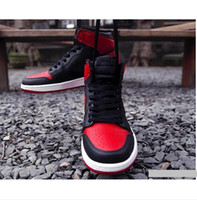 Wholesale Air Retro I Bred Black Red High Banned Air Retro Black White Black Royal Man Basketball Shoes Sneaker Sport Shoes