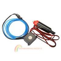 Wholesale R1B1 M Flexible Neon Cold Light Car Glow Strip EL Wire with V Inverter Blue