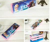 Wholesale 2016 new cartoon frozen sofia first pencil cases pencil box for kid school supplies kid gift