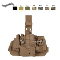 Wholesale Outdoor Sports Assault Combat Military Camouflage Molle Pack Nylon Fabric Quick Release Tactical leg Holster SO11