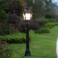 aluminum decorative fence - vintage Mediterranean aluminum decorative E27 lawn lamp fence villa landscape factory courtyard outdoor lawn lamp WCS OLL006