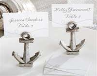 antique card tables - antique silver Nautical Anchor Place Card Holders Table Decor for Wedding Party bridal shower favor