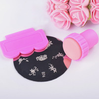 Wholesale High quality little stamper with plastic scraper nail stamping polish plastic head best sell