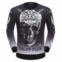 best hedges - Best price New trend men s big skull hoodies Brand Mens round neck hedging sweatshirt coat