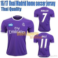 Wholesale 16 Real Madrid jersey soccer jersey away jersey RONALDO BALE SERGIO RAMOS BENZEMA Thai Quality Football shirt