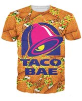 animal fast food - 2016 New Arrive Unisex Women Men d Fashion Clothing tee Taco Bae T Shirt and fast food d print t shirt Plus Size