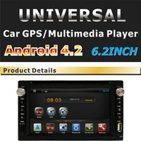 Wholesale 2 din quot TFT Android Car DVD Headunit In Dash Video DVD player Steering Wheel Control Bluetooth GPS Navigation Stereo Radio USB SD