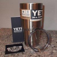 Wholesale 1 start Yeti Cups Stainless Steel oz Cooler YETI Rambler Tumbler Cup Vehicle Beer Mug