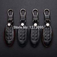 altima key - Hand Stitched Sewing Leather Car Key Cover Case For NISSAN TIIDA VERSA ALTIMA MAXIMA MURANO ROGUE X TRAIL PATHFINDER Z SYLPHY