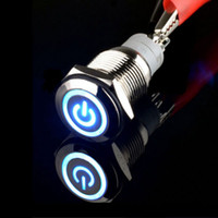 Wholesale V mm Blue LED Power Symbol Angel Eye Push Button Metal Toggle Switch Sales