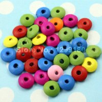 Wholesale 300pcs Colorful Lead free Rondelle Wood Beads for Bracelet Necklace mm Hole mm K01716 bead jade bead turquoise