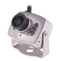Wholesale Super Mini CCTV Micro Camera Color Wired quot Color CMOS CCTV Security Camera Surveillance Monitor Webcam Cam PAL