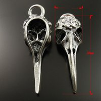 14k findings - 36979 Vintage Silver Tone Alloy Bird Skull Charm Pendant Jewelry Finding jewelry making