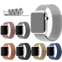 apple watch strap - Noble Smart Watch Milanese Magnetic Stainless Steel Straps For Apple iWatch Band Strap mm mm Colors