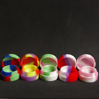 Wholesale Reusable Round Non stick Silicone Jar Container For E cig Wax Bho Oil Butane Vaporizer Silicon Jars Dab Wax Container