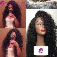 custom made full lace wig - CARO BRAZILIAN KINKY CURLY FULL LACE WIG FRONT LACE WIG UNIT UNPROCESSED HUMAN HAIR WIG CUSTOM MADE WIG