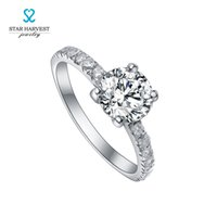 Wholesale 925 Sterling Silver Jewelry with rhodium Plating High Quality Cubic Zircon Stone silver solitaire ring to Expressing Love