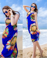 bask design - sexy charming female new chiffon thin scarf Seaside bask beach towels shawl Sarongs bikini condole scarves with modern design cheap price