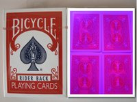 Wholesale Magic poker home Customized Bicycle Red perspective poker card Estimated delivery days x63mm