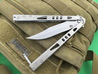 beam pocket - 2016 NEWER the one ALPHA III Particle beam Free swinging Hunting Folding Pocket Knife flail knife Survival Knife Xmas gift freeshipping