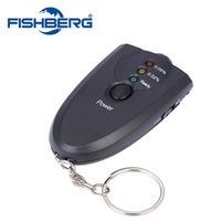 Wholesale Professional Tester test Alcohol level mini Portble Accurate Breath Alcohol Tester Breathalyzer Flashlight