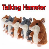 Cheap 8-11 Years Talking Hamster Plush Toy Best Cats/Mice/Dogs Plush Speak Talking Sound Record Hamster