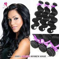 brazilian hair bundle jet black - Brazilian Remy Body Weave Human Hair Bundles Jet Black Brazilian Body Wave Braiding Hair Bundles HLSK Human Hair Wefts