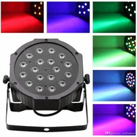 Wholesale 18 LED RGB PAR CAN DJ Stage DMX Lighting For Disco Party Wedding Uplighting E00179 SMAD