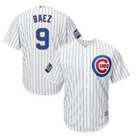 Wholesale Men s Chicago Cubs Javier Baez Majestic White World Series Bound Home Cool Base Player Jersey Mixed order