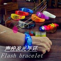Wholesale Manufacturer of LED voice control luminous hand ring Bar party concert Luminous remote sensing bracelet charm fashion