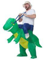 al por mayor traje de dino adulto-Disfraz de mascota de Halloween Disfraz de dinosaurio inflable - Saltear traje de gales de adultos de tamaño infantil de lujo Halloween Lol Animal Dino Rider T-Rex