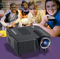 Wholesale Free DHL New Excelvan LED LCD Portable Mini Multimedia Projector AV USB VGA HDMI SD Home Theater for DVD PC GM40