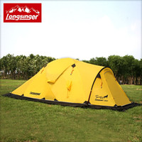 aluminum walker - Longsinger Dragon Walker Snow Wolf coated silicone persons lightweight double bunk Snow camping hiking outdoor tent