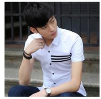 Wholesale Mens casual shirts men shirts regular fit designer shirts men Students shirt casual shirts with short sleeves Plus Size xxxl White shirt