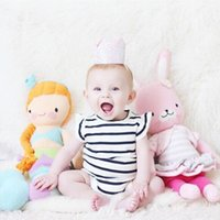 Wholesale Baby Rompers Summer Cute Fly Sleeve Bow Fashion Lace Floral Stripe Cotton Romper for Infant Toddler Clothing MK