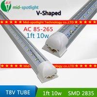 Wholesale V Shaped ft Cooler Door Led Tubes T8 Integrated Led Tubes Double Sides SMD2835 Led Fluorescent Lights AC V UL DLC