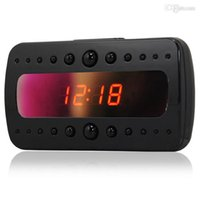 Wholesale Full HD P Spy Clock Camera V26 IR Night Vision Alarm Clock Hidden DVR Recorder With Motion Detection Remote Control Hot Sale