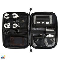 Wholesale New Electronic Accessories Travel Bag Nylon Mens Travel Organizer For Date Line SD Card USB Cable Digital Device Bag