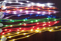 Wholesale 2014 Newest LED Lamp beads Flashing Shoe Lace Fiber Optic Shoelace Luminous Shoe Laces Light Up Flash Glowing Shoeslace