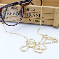 Wholesale Brand New Reading Glasses Spectacles Eyeglasses Sunglasses Holder Neck Cord Metal Strap Chain Pc CA12232