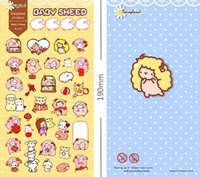 baby diary - New Cute Baby Sheep series multifunctional deco paper sticker set phone diary sticker Office material school supplies dandys