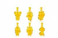 Wholesale Fashion k gold Chinese zodiac pendant not contain chain Rat Ox Tiger Rabbit Dragon Snake Horse Sheep Monkey Rooster Dog Pig GTKP36