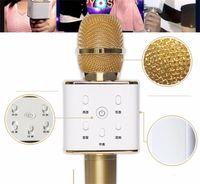 Wholesale TUXUN Q7 Handheld Microphone Wireless KTV With Speaker Mic Microfono Handheld For iphone Smartphone Portable Karaoke Player