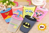 batman drink - 3D Soft Silicone gel Case Cup Starbucks Coffee Drink Batman Lemon Pink Slushie Krusty Shake Leopard For Iphone S Plus skin Luxury