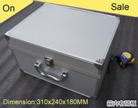 aluminum tote boxes - high quality aluminium tool case magic props file storage Hard carry tool box Hand Gun Locking Pistol Totes Multimeter box